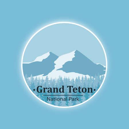 National park mountain symbol image illustration