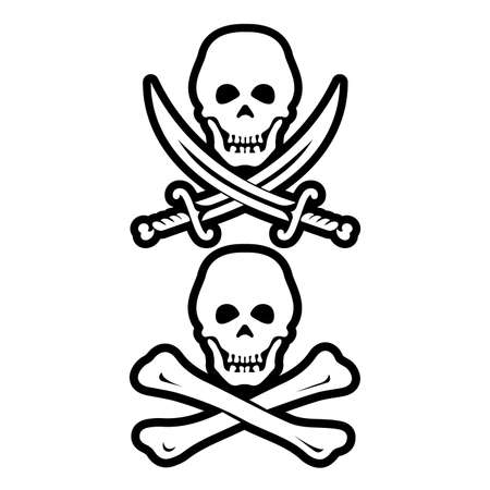 Piracy - the concept of cyber security vector icon. Ilustrace