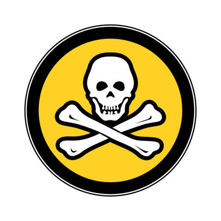 Piracy the concept of cyber security the warning sign. Illustration
