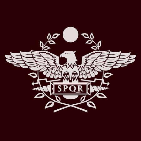 Logotipo del águila romana.