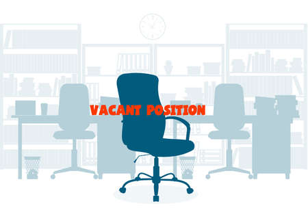 Ð¡oncept of employment. Empty chair. Search of office personnel.
