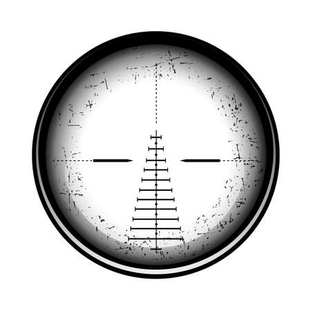 Optical sight on a white background.