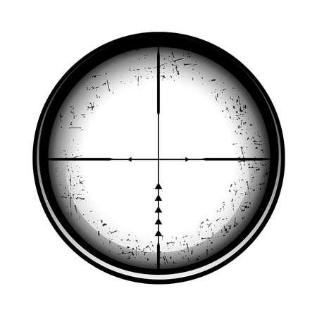 Optical sight on a white background. 向量圖像