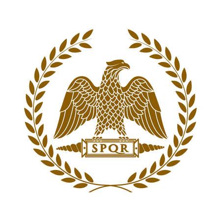 Logo de l'aigle romain.