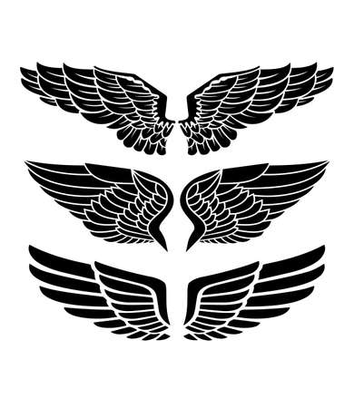 Wings for heraldry, tattoos