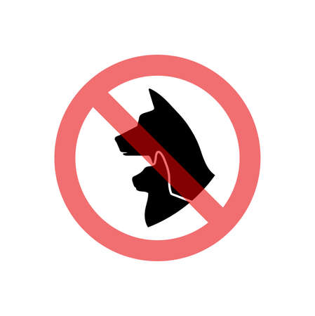 Prohibition sign pet related vector icon. Banque d'images - 117746022