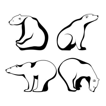 Polar bear symbol of the Arctic.