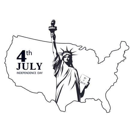 Símbolo de libertad icono de vector de Estados Unidos.