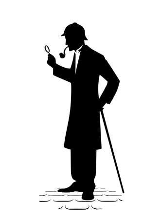 Symbol des Detektivs mit einer Lupe.