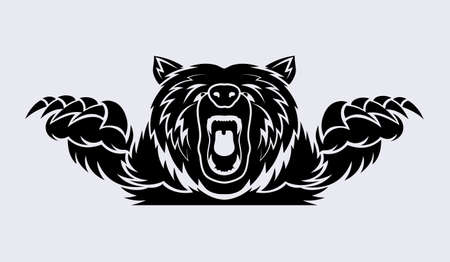 angry bear vector icon Stock Illustratie