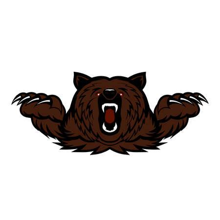 angry bear vector icon Çizim