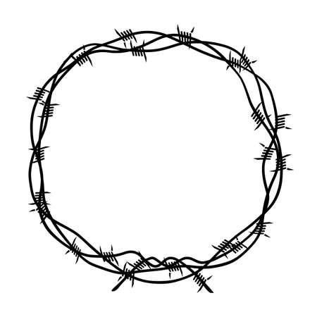 corona de alambre de púas