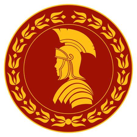 roman warrior vintage symbol vector illustration