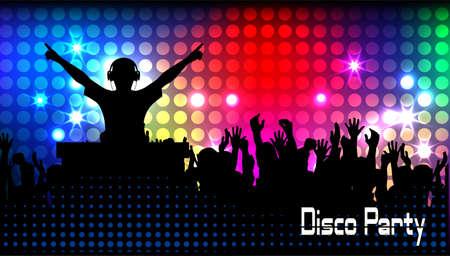 club life dj Stock Illustratie