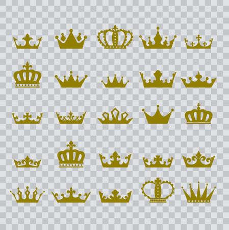 crown heraldic symbol icon on transparent background