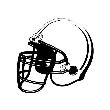 soccer players protective helmet vector illustration