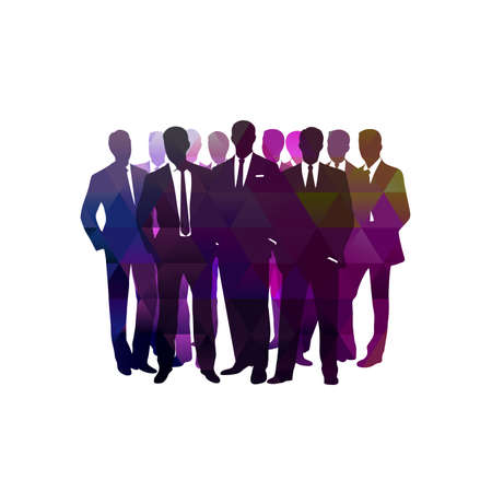 Business background group of business people on an abstract background of gears.