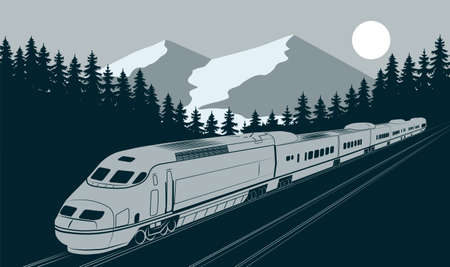 high speed train motion vector illustration Stock Illustratie