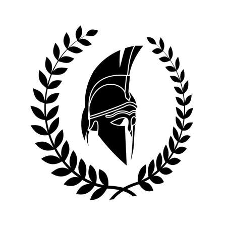 vecchio simbolo squallido del guerriero spartano Vettoriali