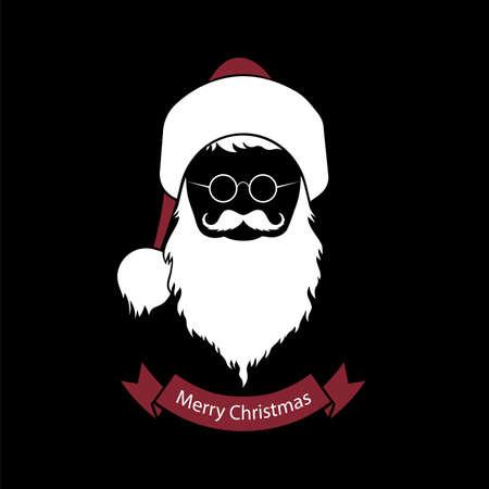 Santa Claus icon vector illustration.