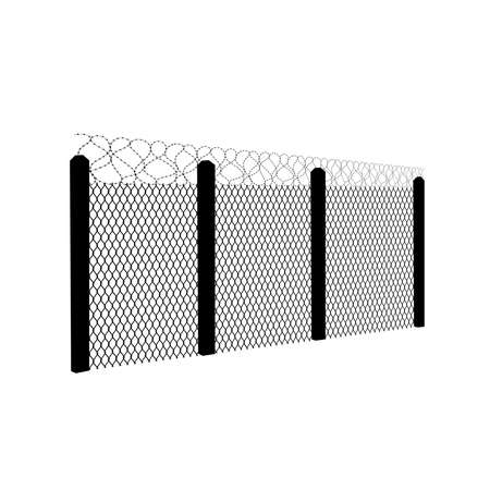 barbed wire fence vector illustration Illusztráció