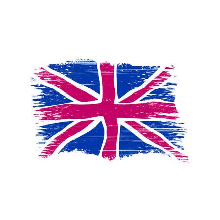 british flag in grunge style