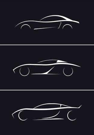 sports car silhouette vector illustration