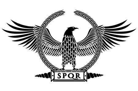 Roman eagle illustration