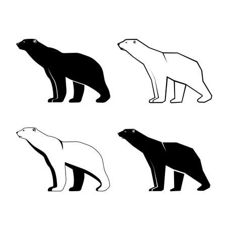 Set of polar bear vector illustration Иллюстрация