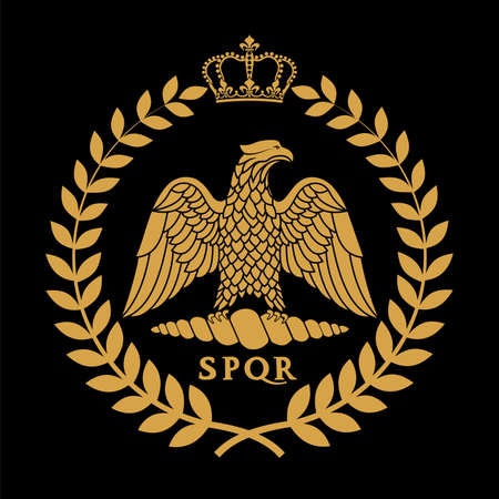 Roman eagle logo vector illustration Иллюстрация