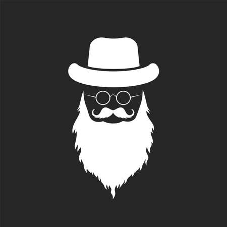 elderly gentleman icon vector icon