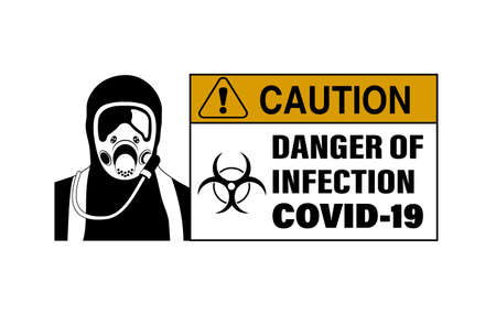 epidemiological danger sign vector illustration