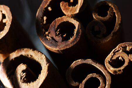 cinnamon bark: cinnamon bark - background Stock Photo