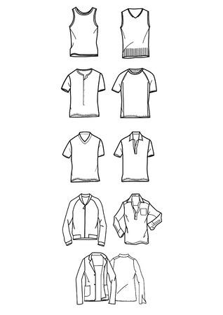 men fashion set Stock Vector - 3105921
