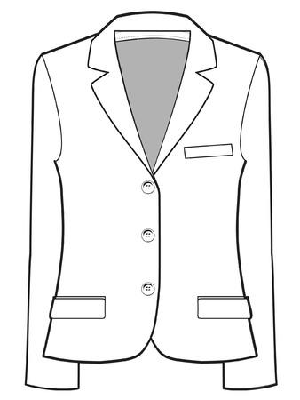 unisex jacket  vector illustration