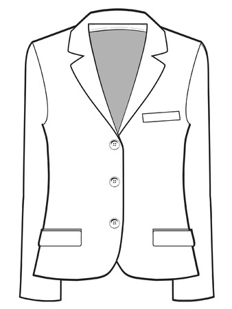 unisex jacket vector illustration