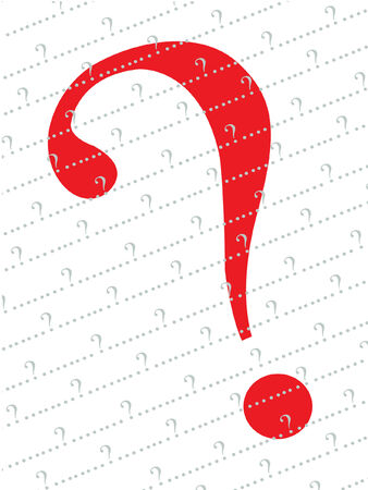 red and grey question mark  background Vector