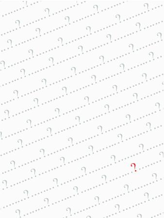 whose: sfondo rosso e grigio punto interrogativo