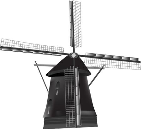 windmill vector illustration Vector
