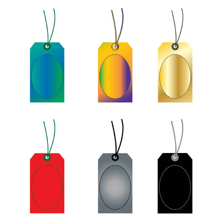BLANK TAGS AND LABELS VECTOR ILLUSTRATION Vector