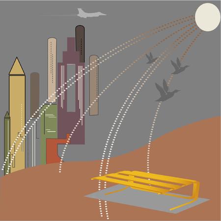 city at night vector illustration Stock Vector - 3595123