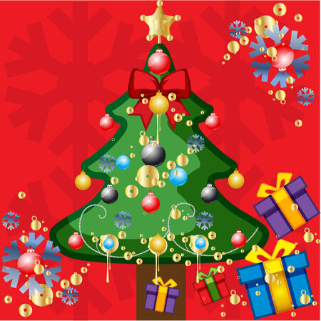 christmas tree vector illustration Stock Vector - 3621534