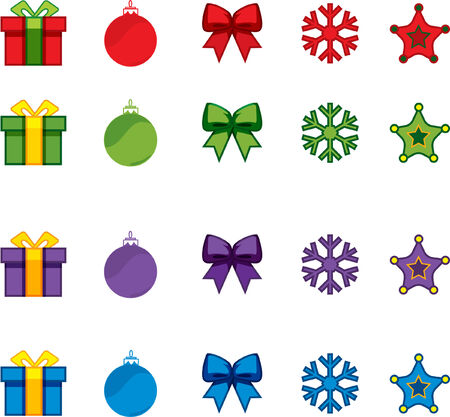 christmas vector icon set Vector