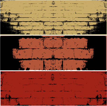 Three different types of WALL  vector background