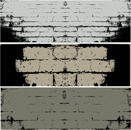 kőtörmelék: Three different types of WALL  vector background