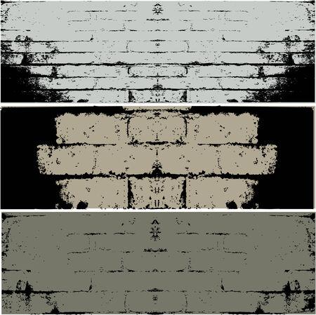 rubble: Tres diferentes tipos de vectores de fondo PARED