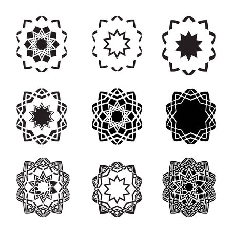 Distorted abstract star icons  and logos and graphic design elements Vector
