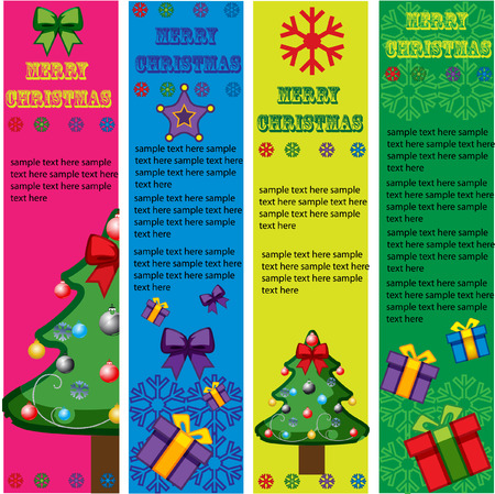christmas vector banners with design elements