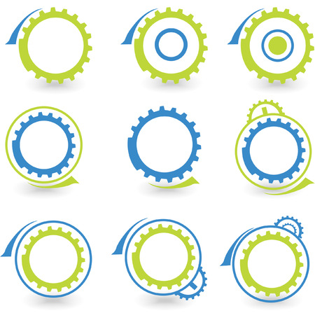 Environmental gear graphic design elements- vector Vector