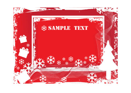 abstract grunge christmas vector background Vector
